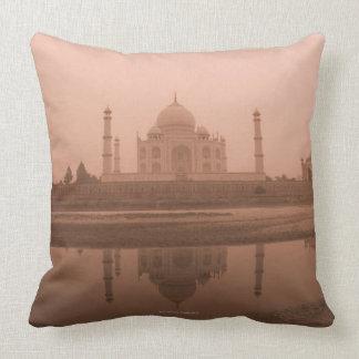 Mausoleum at the riverside, Taj Mahal, Agra Throw Pillows