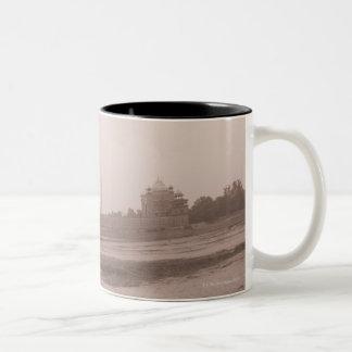 'Mausoleum at the riverside, Taj Mahal, Agra, Two-Tone Coffee Mug