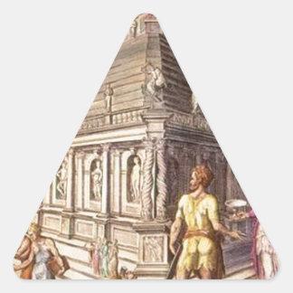 Mausoleum of Halicarnassus Maerten van Heemskerck Triangle Sticker