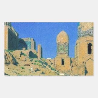 Mausoleum of Shah-i-Zinda in Samarkand by Vasily Rectangular Sticker