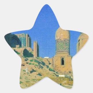 Mausoleum of Shah-i-Zinda in Samarkand by Vasily Star Sticker