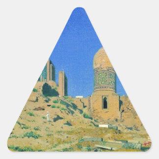 Mausoleum of Shah-i-Zinda in Samarkand by Vasily Triangle Sticker