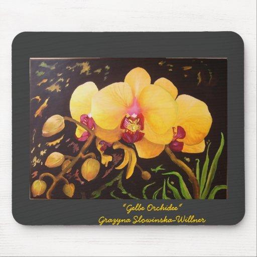 "Mauspad""Gelbe Orchidee"""