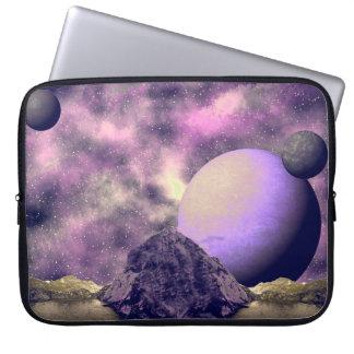 Mauve Alien World Space Scene Laptop Sleeve