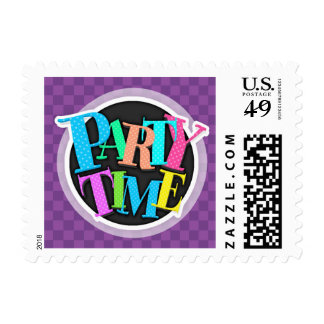 Mauve and Dark Violet Purple Checkered Squares Stamps