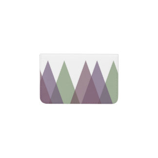 Mauve and green triangles business card holder