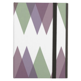 Mauve and green triangles case for iPad air