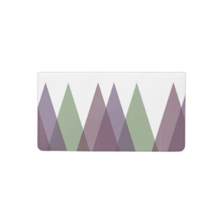 Mauve and green triangles checkbook cover
