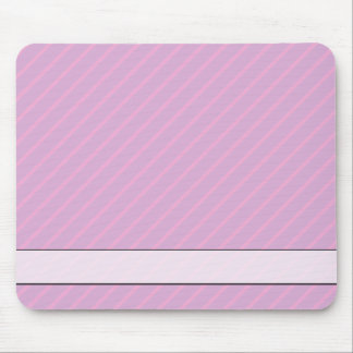 Mauve and Pink Diagonal Striped Pattern. Mouse Pad