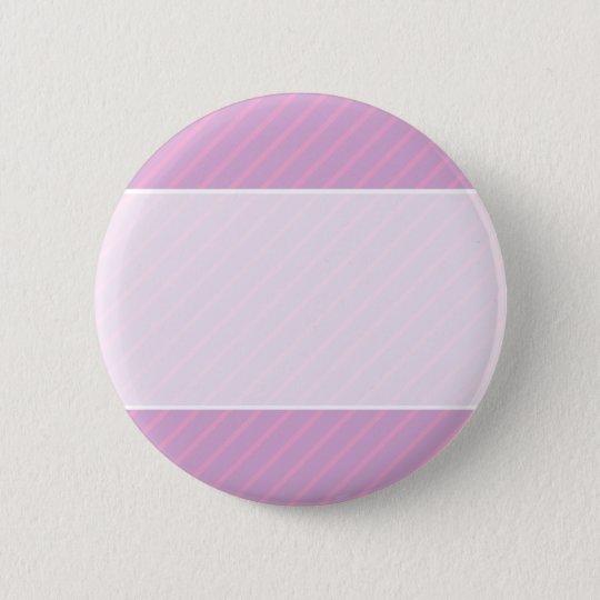 Mauve and Pink Diagonal Striped Pattern. Pinback Button
