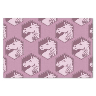 "Mauve and Rose Pink Unicorn Array 10"" X 15"" Tissue Paper"
