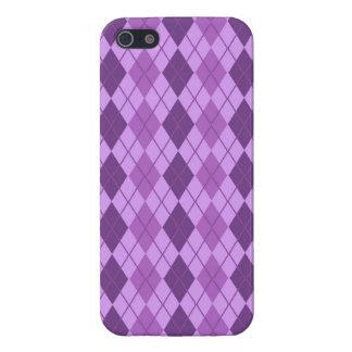 Mauve and Violet Purple Vintage Argyle look Case For iPhone SE/5/5s