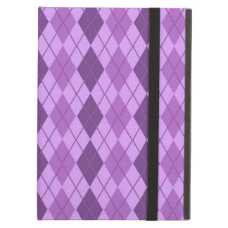 Mauve and Violet Purple Vintage Argyle look Cover For iPad Air
