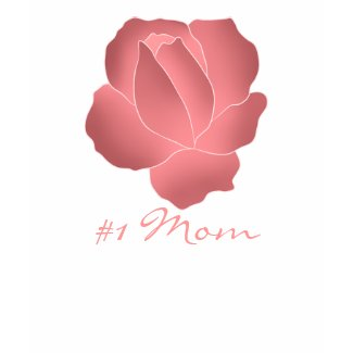 Mauve art rose #1 Mom Mother's Day zazzle_shirt