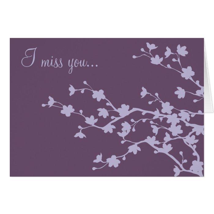 Mauve Blossoms Card