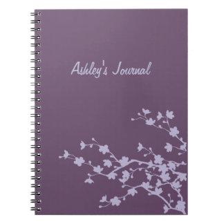Mauve Blossoms Notebook
