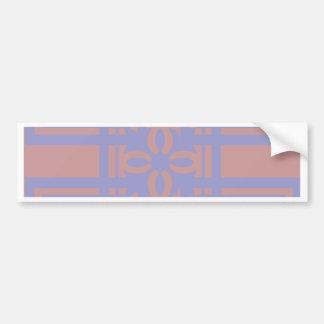 Mauve blue squares bumper sticker