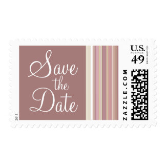 Mauve, Brown, & Green Stripes; Striped Postage Stamps