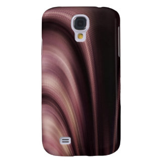 Mauve Brown Swirl Abstract Galaxy S4 Cover