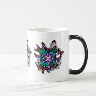 Mauve butterflies coffee mug