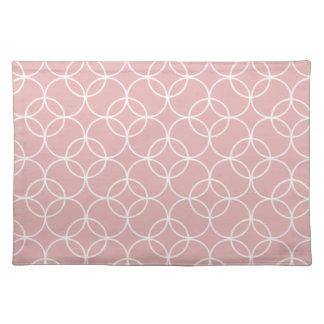 Mauve Circle Pattern Cloth Placemat