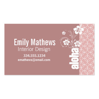 Mauve Circles; Aloha Double-Sided Standard Business Cards (Pack Of 100)
