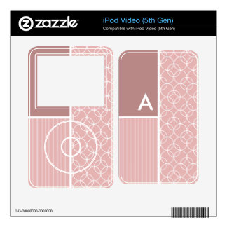 Mauve Circles; Circle Pattern Skins For iPod Video 5G