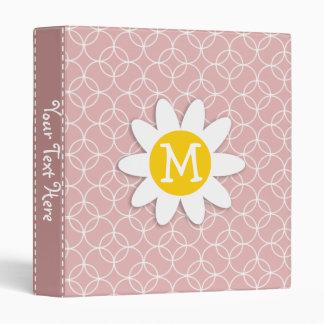 Mauve Circles; Spring Daisy 3 Ring Binder