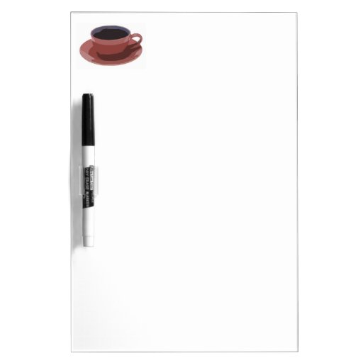 Mauve Coffee Cup Dry Erase Whiteboard