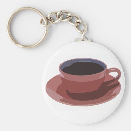Mauve Coffee Cup Keychain