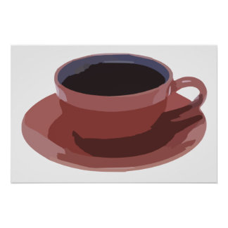 Mauve Coffee Cup Poster