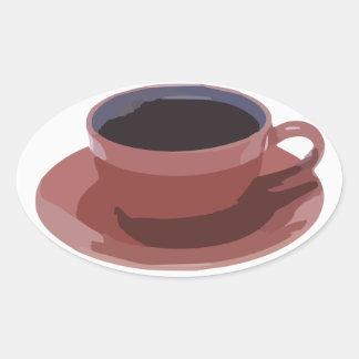 Mauve Coffee Cup Sticker
