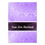 Mauve damask any occasion 3.5x5 paper invitation card