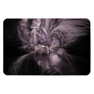 Mauve Feather Fractal Magnet