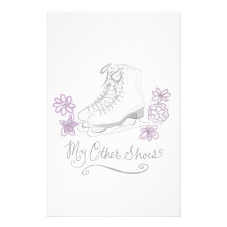 Mauve Figure Skate Custom Gift for Figure Skater Stationery