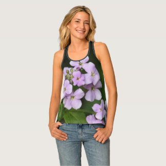 Mauve Floral Beachwear Tank Top