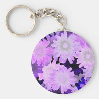 Mauve floral keychain