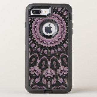 Mauve Floral Mandala OtterBox Defender iPhone 7 Plus Case