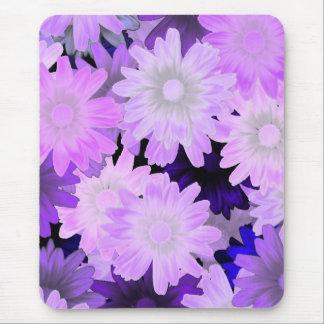 Mauve floral mouse pad