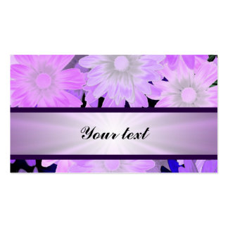 Mauve floral pattern and ribbon Double-Sided standard business cards (Pack of 100)