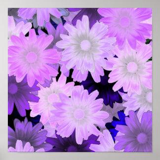 Mauve floral poster