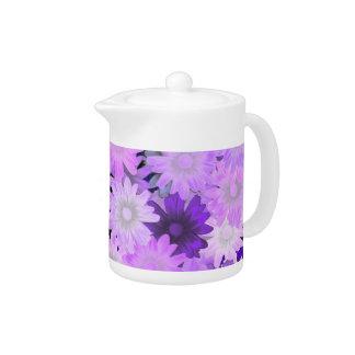 Mauve floral teapot