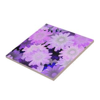 Mauve floral tile