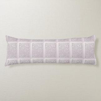 Mauve Floral Windowbox Design Body Pillow
