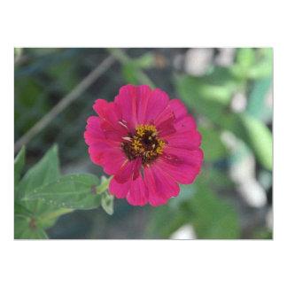 Mauve flower 6.5x8.75 paper invitation card