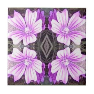 Mauve Flower Fractal Tile