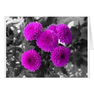 Mauve Flowers Card
