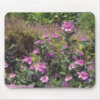 mauve flowers mouse pad