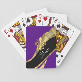 Mauve fluer de lys mothers day playing cards