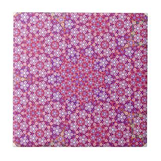 Mauve Fractal Circles Tile